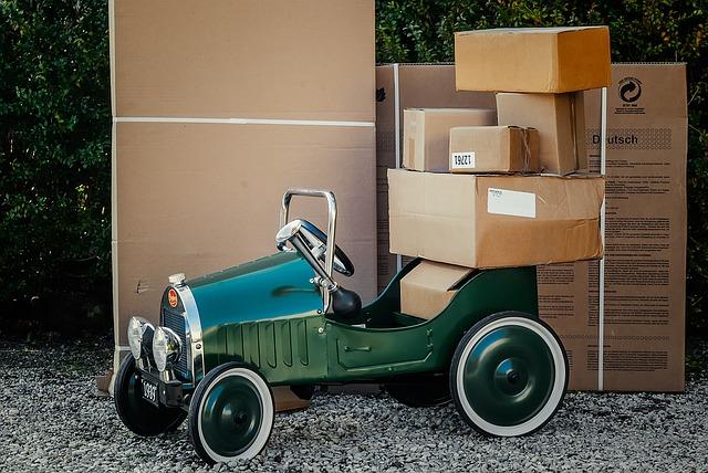 auto s balíky