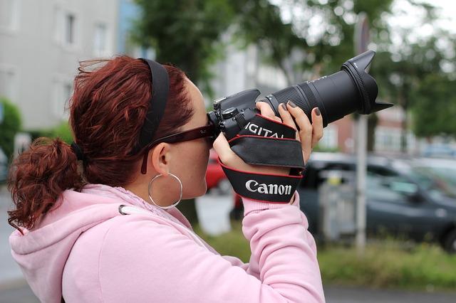 fotografka s Canonem