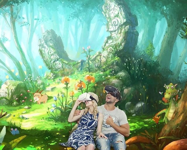 zábava s virtuální realitou