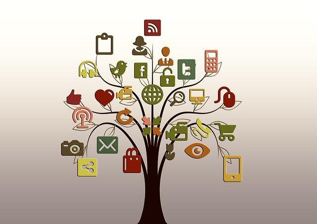 strom sociálních sítí a internetu