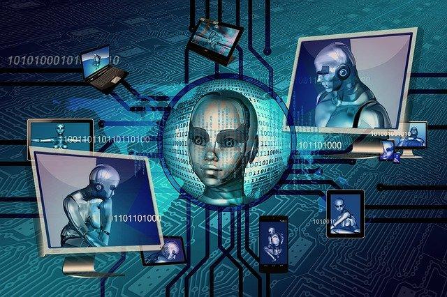roboti na obrazovce