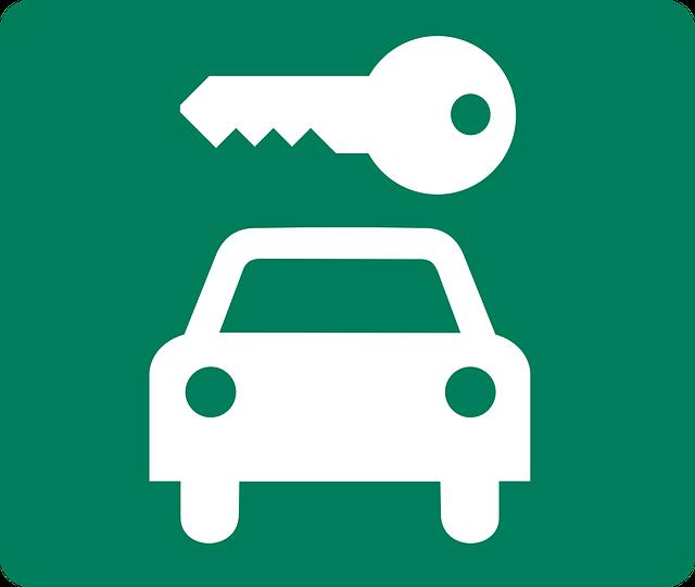 auto, klíček