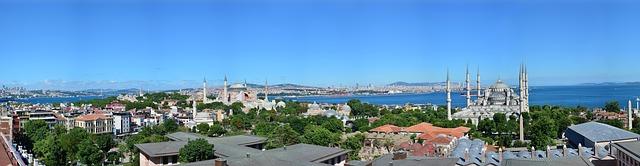 panoramatický pohled na istambul