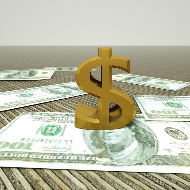 symbol dolaru a bankovky