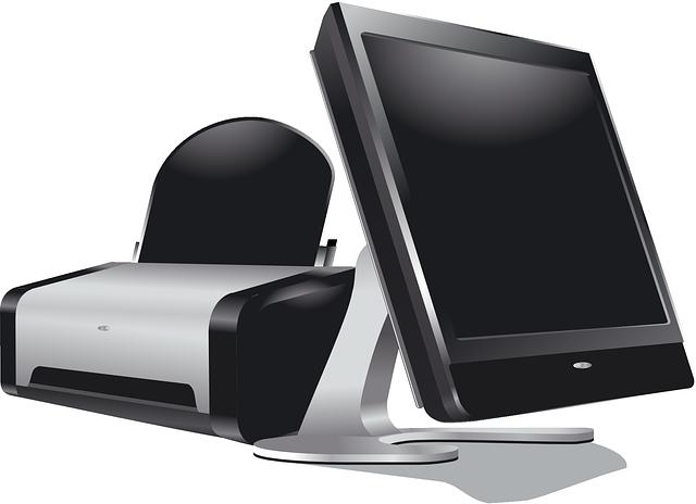 Monitor s tiskárnou
